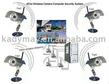 2011 HOT CCTV CAMERA >>> 4Chs Computer Wireless Camera System