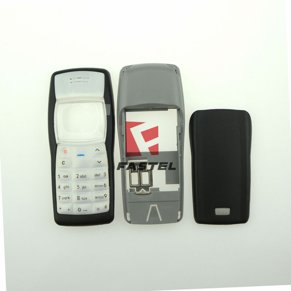 For Nokia 1100 New Full Complete Phone Housing Cover Case keyboard + English or Russian or Arabic Keypad