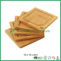 bamboo meat & veggie preparation cutting board set perfect for kitchen 4 piece