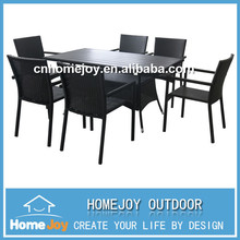 Best sell heavy-duty dining table and chairs, cheap dining table and 6 chairs, rectangular patio dining set