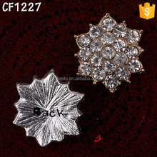 15mm Shiny alloy rhinestone lotus flower buckle for DIY flower accessory
