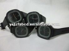 Cool Black Men Square Silicone Watches Men