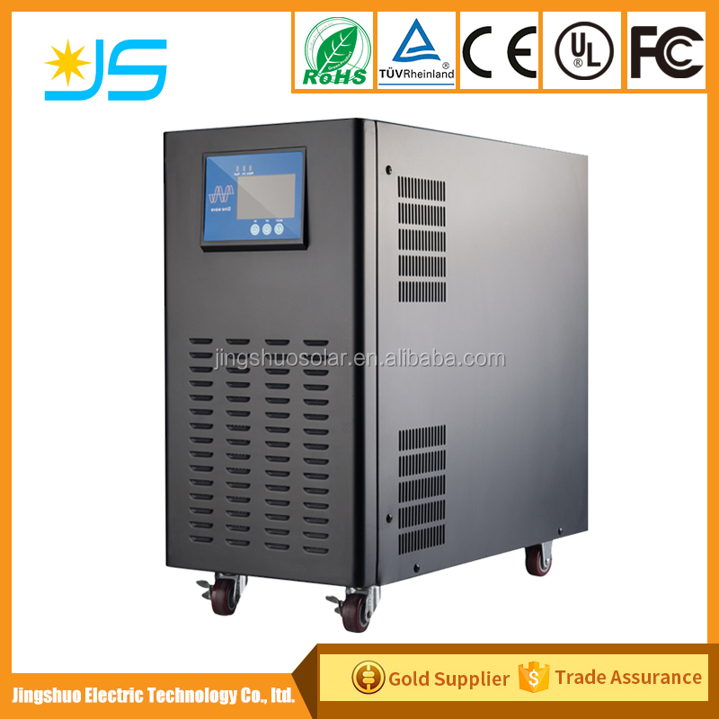 Low frequency 6000W Solar Inverter&Charger dc to ac pure sine wave inverter output