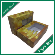 Custom paper food box fruit display packaging fruit cartons cherry packaging with window