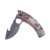 Aluminum handle Camo pattern 440SS knife