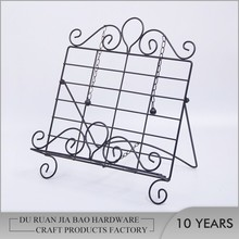 Hot sale wrought iron sign holder paper insert display stand for menu holder