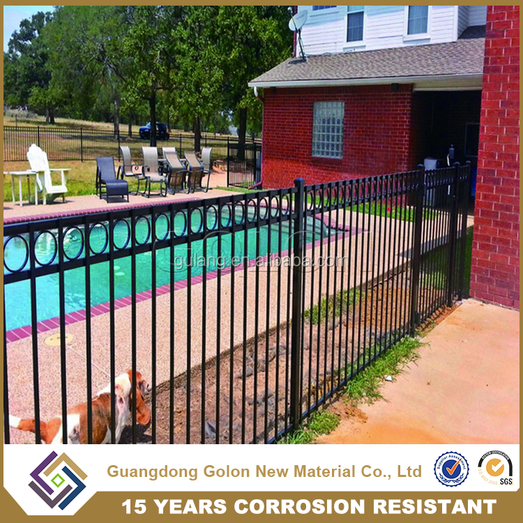China supplier security pool fence, aluminum fence panels