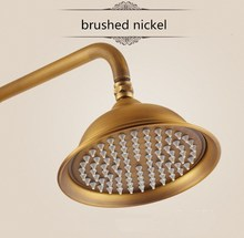 Golden stainless steel Top shower head high pressure ceiling mounted waterfal shower