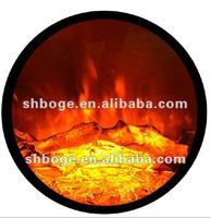 CE approved good quality round electric fireplace