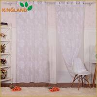 Custom polyester/cotton burnout sheer fabric curtains