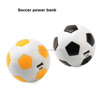 Hot sale promotional gift world cup football soccer shaped mobile phone charger portable power bank2600mah for iPhone