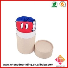 Wholesale round t shirt packing box new design paper t-shirt packaging tube