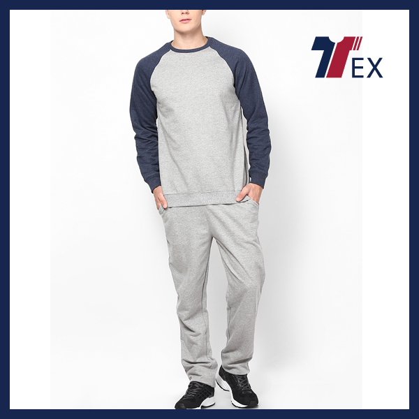 Custom cheap sports clothes plain cotton tracksuit training & jogging wear mens clothing