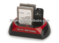 2013 popular 876 Multi-function/All in 1 HDD Docking(USB 2.0 for 2.5/3.5inch SATA/esata HDD Docking product)