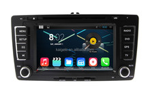 pure android 4.4 car dvd player car gps for Skoda Octavia 2013 support wifi bluetooth radio dtv