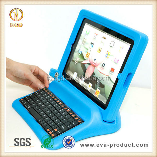 With keyboard two pieces shockproof EVA case for ipad2&3&4