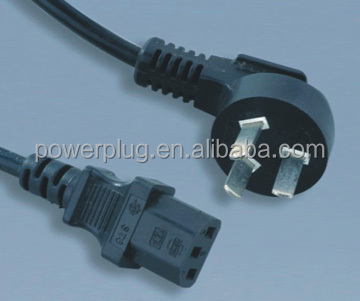 3 pins ac power cord electrical plug with connector PSB-10A/ST3
