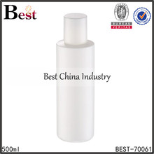 500ml cosmetic plastic shampoo bottle packaging with screw tops