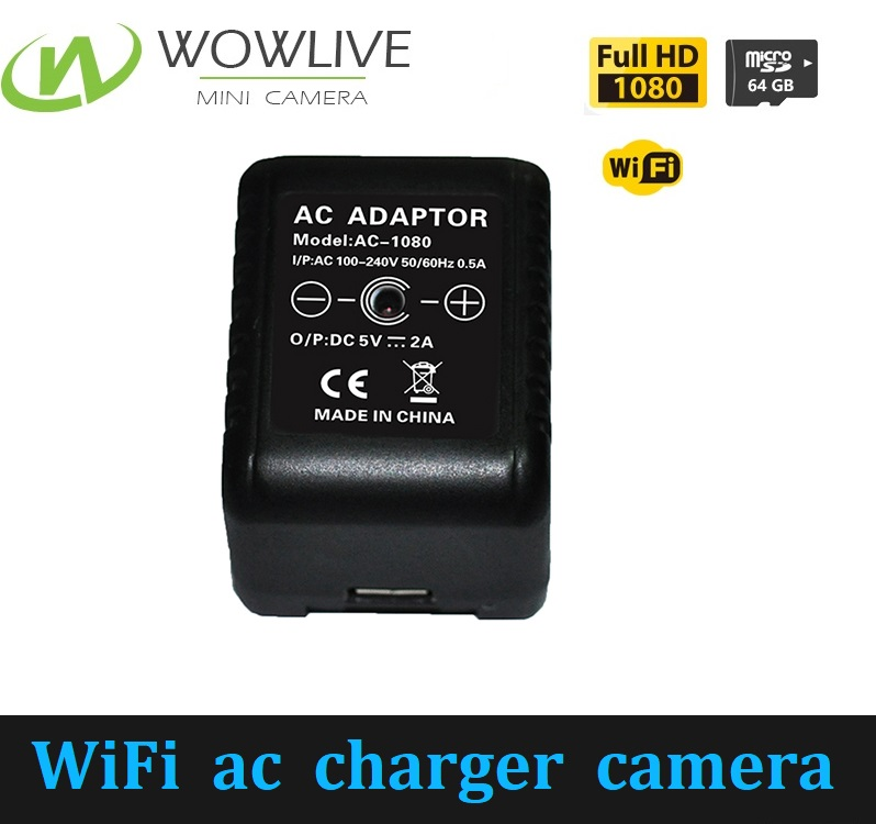 1080p HD Wifi Spy cam Gadgets Covert Wall Power Charger Camera Recorder AC Hidden Adapter USB Spy Camera