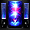 New 3D Magic LED Glowing Flashing LED Dancing 2.1 Subwoof Speaker