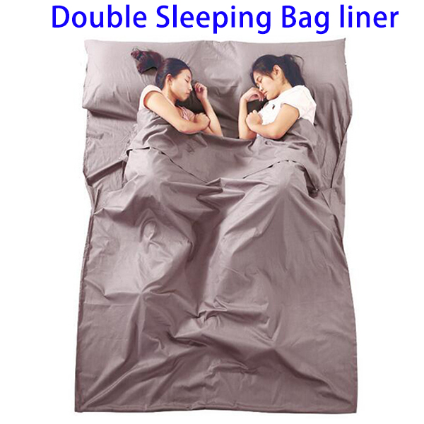 New Latest Products Portable Cotton Double Sleeping Bag Liner, Inflatable Sleeping Bag