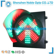 China 400mm 16inch led driveway traffic signal light/over head lane control signals