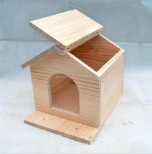 Garden hanging pigeons wooden natural bird house