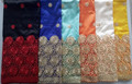 Fashion nigerian silk george embroidery george fabric african raw silk george fabric