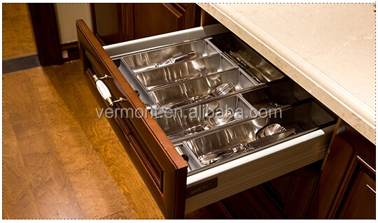 2017 American Standard Solid Wood Kitchen Cabinet with multi function storage basket VT-SK-001