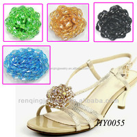 Yiwu renqing jewelry factory crystal shoes clips accessories parts