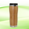 BPA free eco friendly insulated double wall thermo bamboo large tea infuser mug with logo