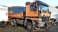 USED TRUCKS - MERCEDES-BENZ 1835 4X4 TIPPER (LHD 2821 DIESEL)