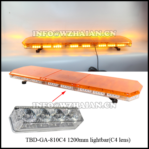 1W 88 leds TIR4 amber led lightbar warning lightbar light bar 1200mm TBD-GA-810C4