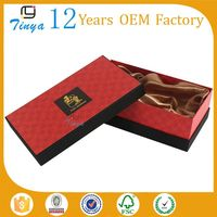 custom high quality satin lined gift box