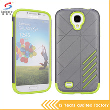 wholesale bulk PC+TPU Gray and green color shockproof mobile phone cover for samsung galaxy s4 cases