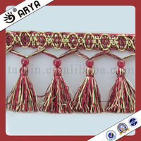 Polyester Tassel Fringe for Curtain Accessory Trimming Fringes for Dresses