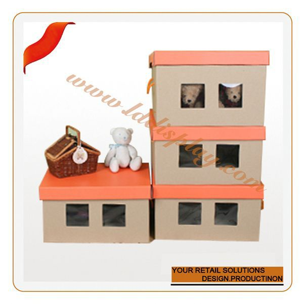 Customize customize special design paper box with handle diy bamboo furniture