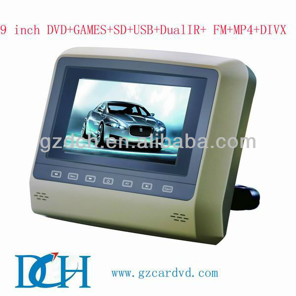 "9"" car headrest mount portable dvd player WS-X9D"