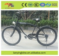 Top selling fashionable 26 inch 6 speed black retro beach cruiser bike