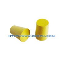 Custom small size yellow silicone protector rubber bumpers