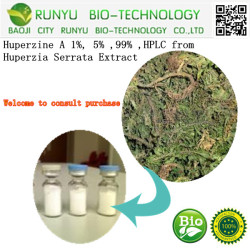 China Manufacturer Suppliers Huperzine A From Huperzia Serrata Extract