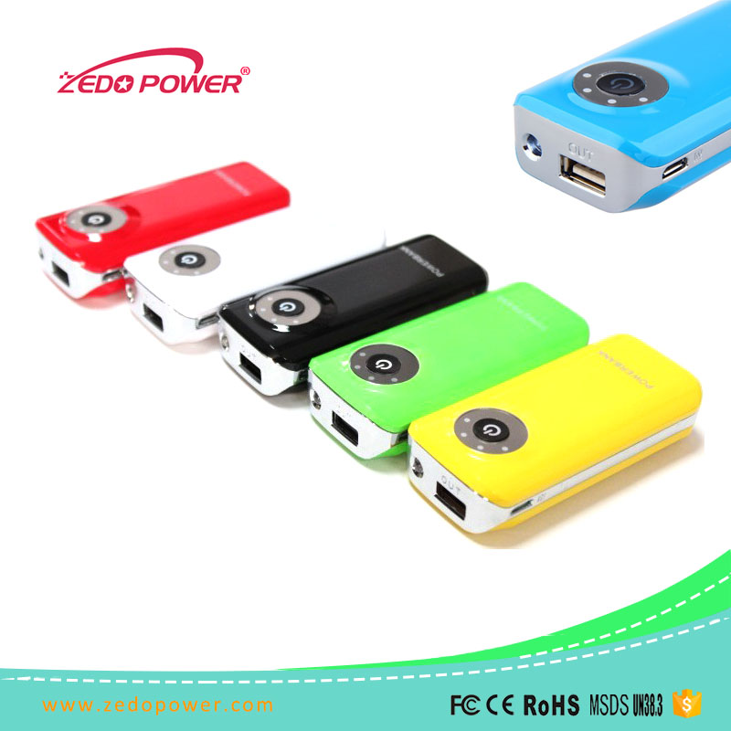 led torch light portable 4000mah power bank external battery charger