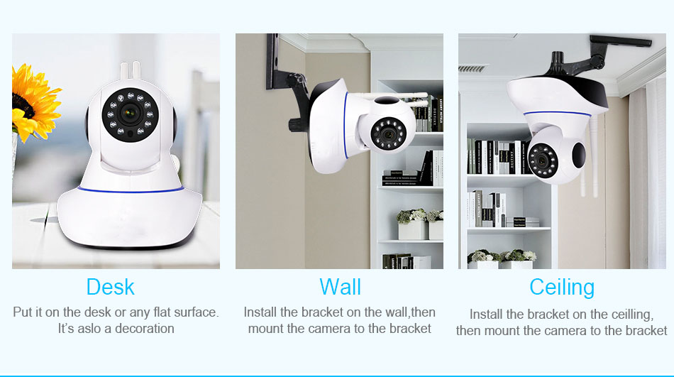 Cute design two-way voice and video baby monitor wifi  ip camera baby monitor
