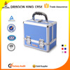 Aluminum cosmetic case Double open with 4 trays cosmetic case