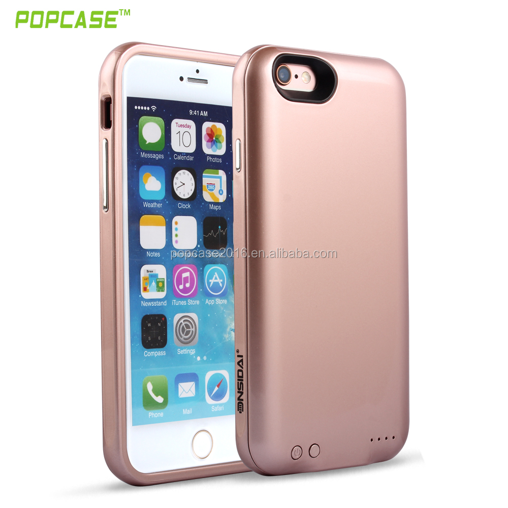 High quality power bank portable storage phone case cover for iphone 6 plus