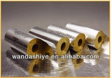 Glasswool pipe with double side aluminum foil insulation covering