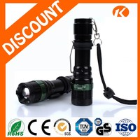 Electric 3 In 1 Powerful Zoomable Led Torch Handhold Light Tactical Rechargeable Flashlight