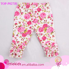 Girls Floral Leggings Baby Icing Ruffle Leggings Wholesale Children Icing Pants