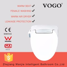 White Intelligent automatic heated electric toilet seat soft close