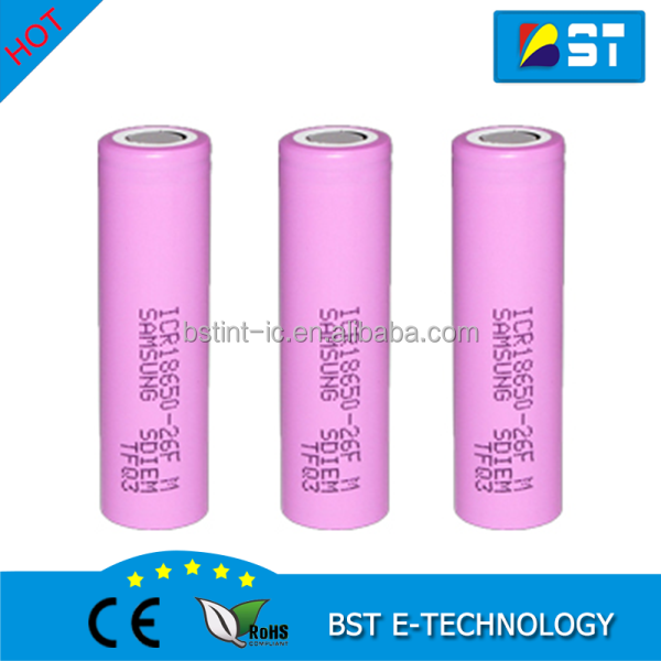 New Samsung 26F 18650 2600mAh battery ICR18650-26F 3.6V discharge 2C, dedicated electronic cigarette Power battery